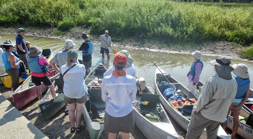 Missouri Canoe Instruction at Put in