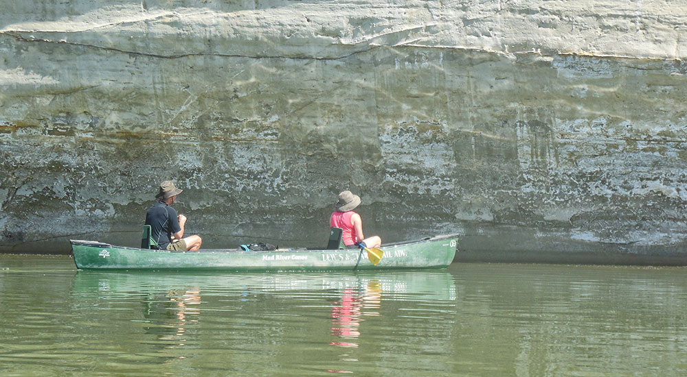 Missouri River Canoe White Cliffs