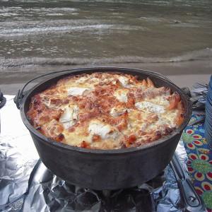 Salmon River Penne Bake