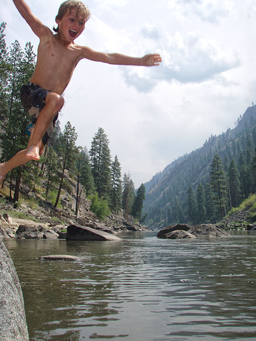 Salmon River jumping in